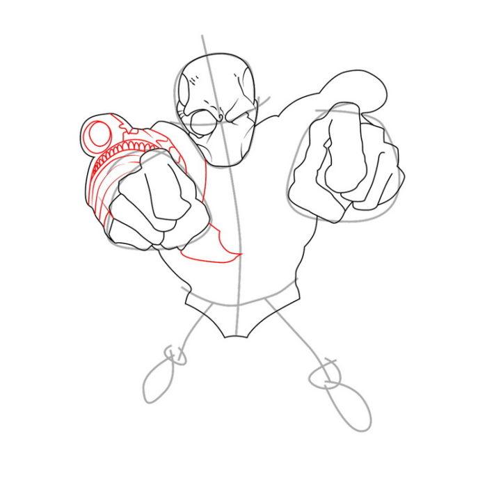 Как нарисовать Дедшота