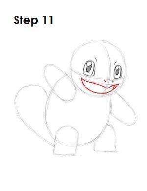 Как нарисовать Сквиртла из покемон го
