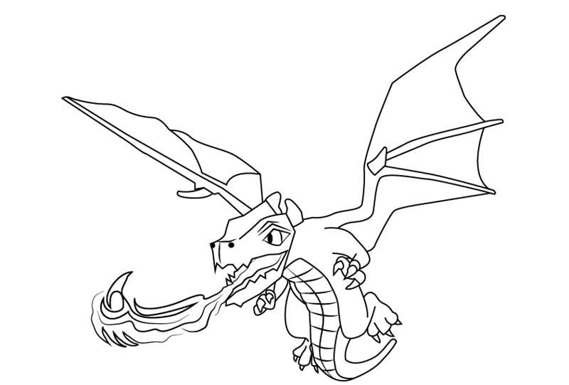 дракон из клеш оф кленс