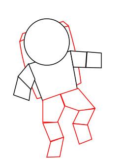 научиться рисовать космонавта 2