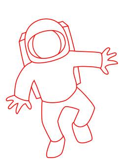 научиться рисовать космонавта 3
