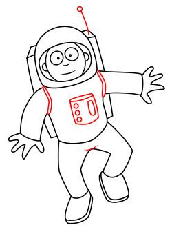 научиться рисовать космонавта 5