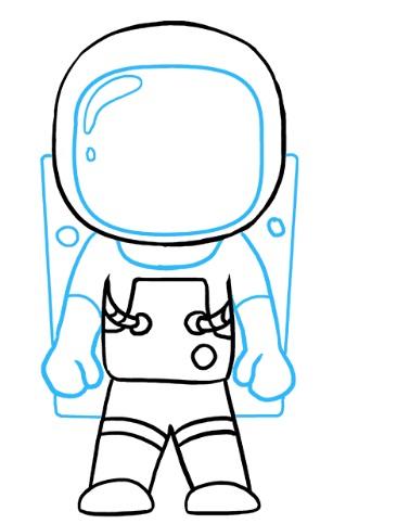 просто рисунок космонавт 7