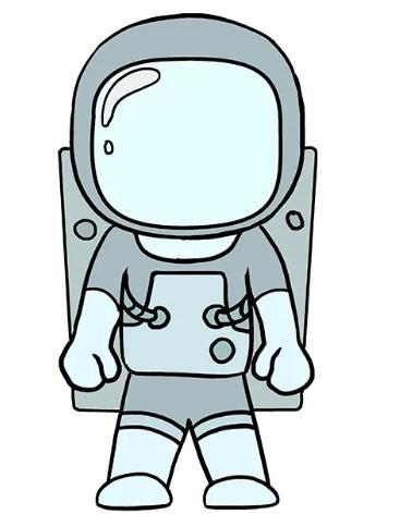просто рисунок космонавт 8