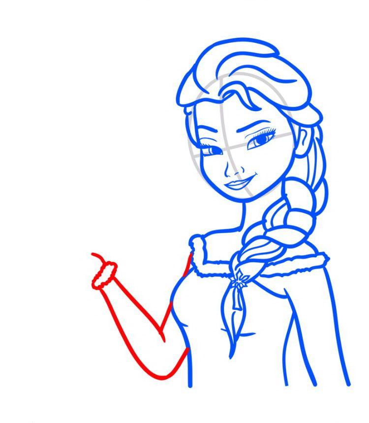 Как нарисовать Эльзу