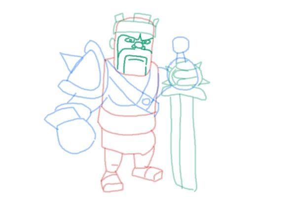Как просто нарисовать короля варваров 10