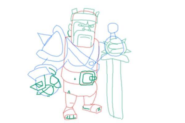 Как просто нарисовать короля варваров 11