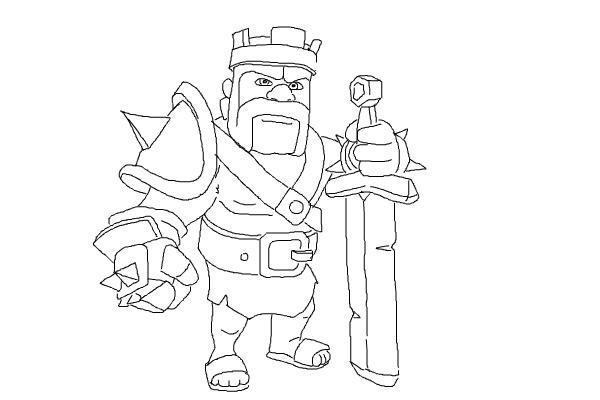 Как просто нарисовать короля варваров 12