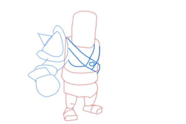 Как просто нарисовать короля варваров 6
