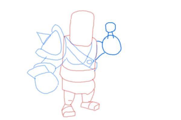 Как просто нарисовать короля варваров 7