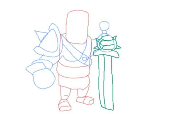 Как просто нарисовать короля варваров 8