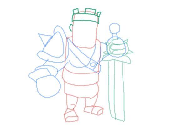 Как просто нарисовать короля варваров 9