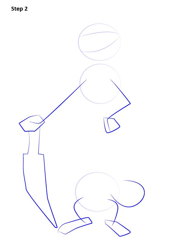 как нарисовать Бака из мультика