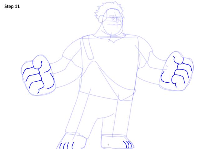 как нарисовать Ральфа11