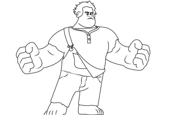 как нарисовать Ральфа14