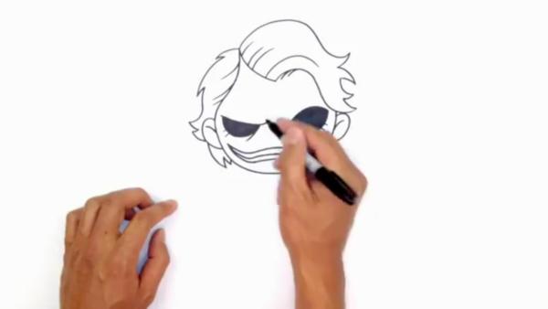 Как нарисовать Джокера в стиле чиби