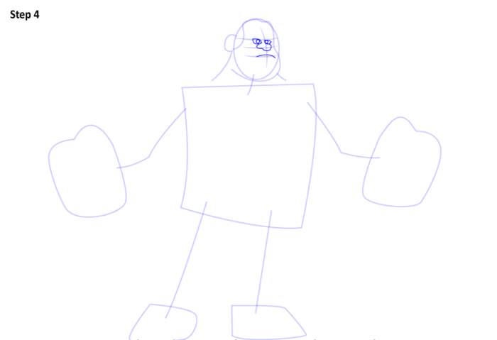 как нарисовать Ральфа4