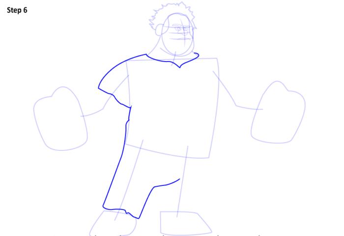 как нарисовать Ральфа6