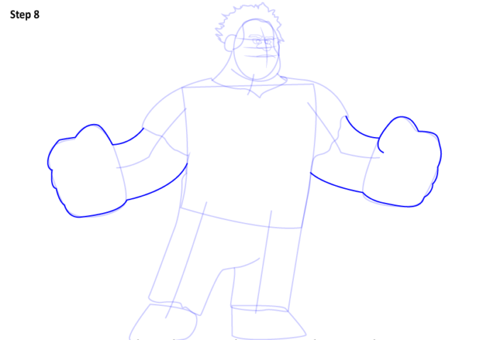как нарисовать Ральфа8