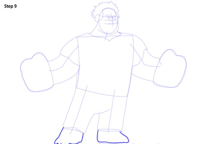 как нарисовать Ральфа9