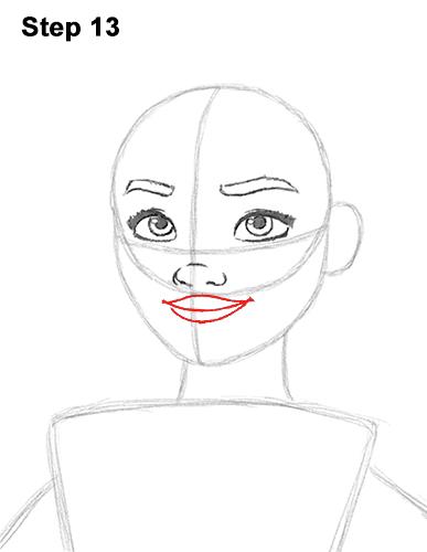 Как рисовать Моану из мультика