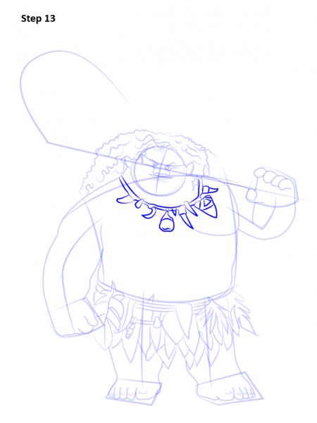 Как нарисовать Мауи из мультика