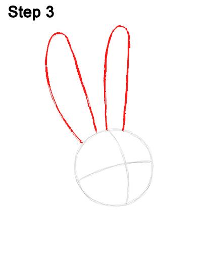 Рисуем кролика Снежка