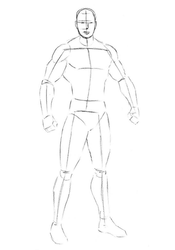 Как нарисовать Джакса из Мортала Комбата
