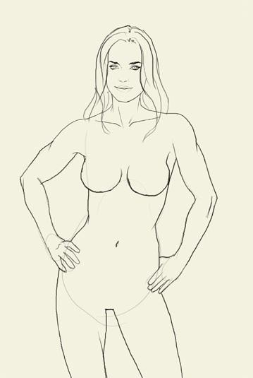 Рисуем Чудо-женщину