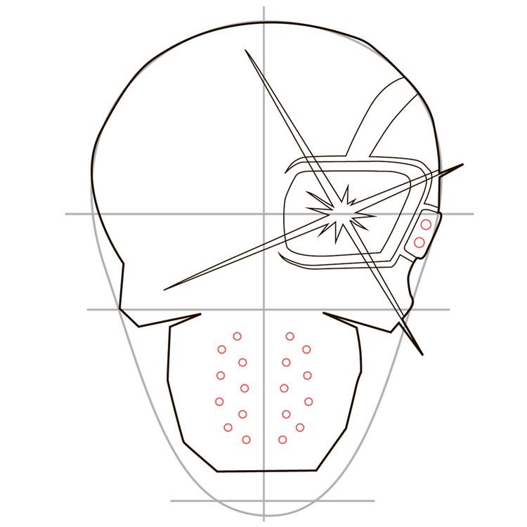 Как нарисовать значок Дэдшота из фильма