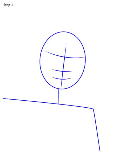 как нарисовать Трейсер из игры