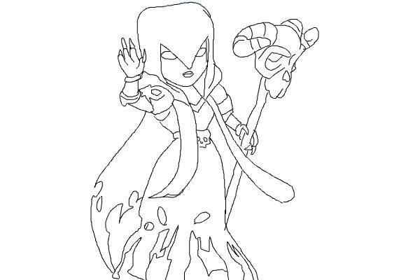 Как нарисовать Ведьму из игры Клэш оф Кленс