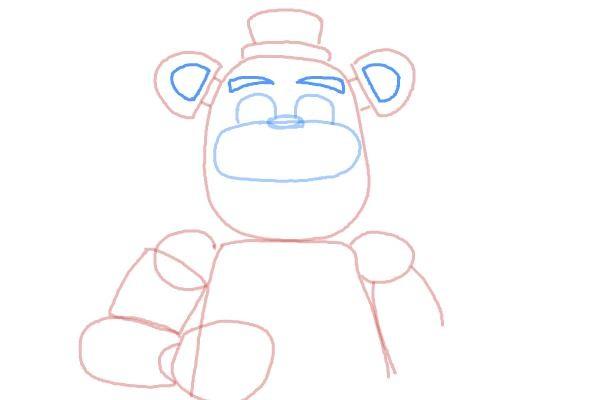 Как нарисовать мишку Фредди