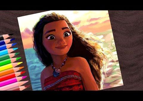 Видео урок как нарисовать Моану