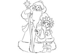 Рисуем Деда Мороза и Снегурочку