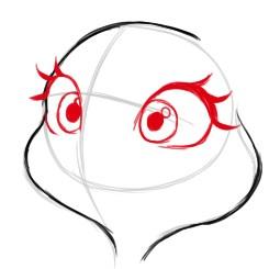 как просто нарисовать лицо Джуди Хопс