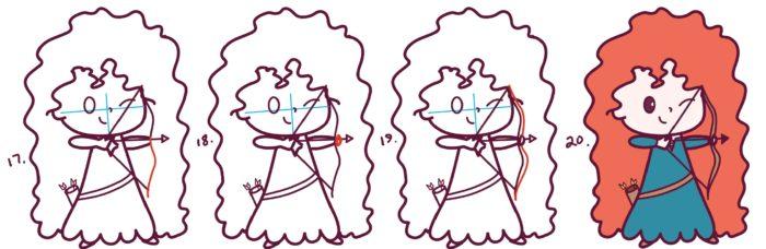 Как нарисовать мериду из мультика