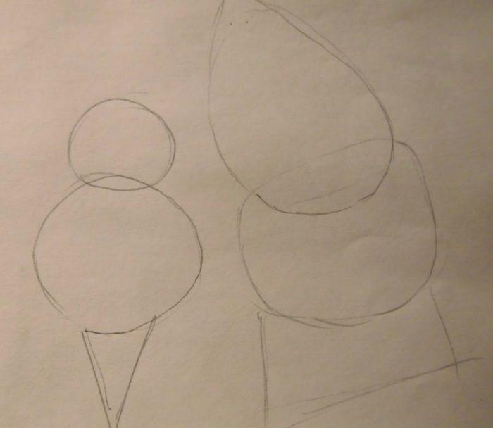 Как нарисовать Санту и оленя