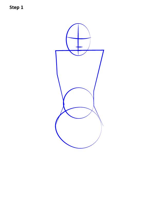 Рисуем поэтапно Гвен Стейси 1