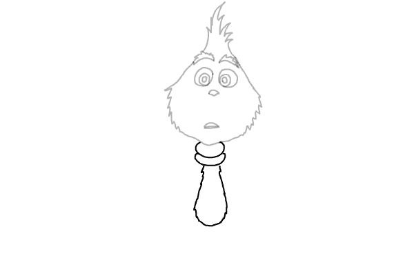 Как нарисовать маленького Гринча 6