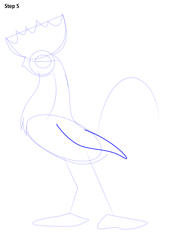 Хей-хей нарисовать петуха из мультика