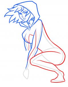 Как нарисовать Женщину Паука