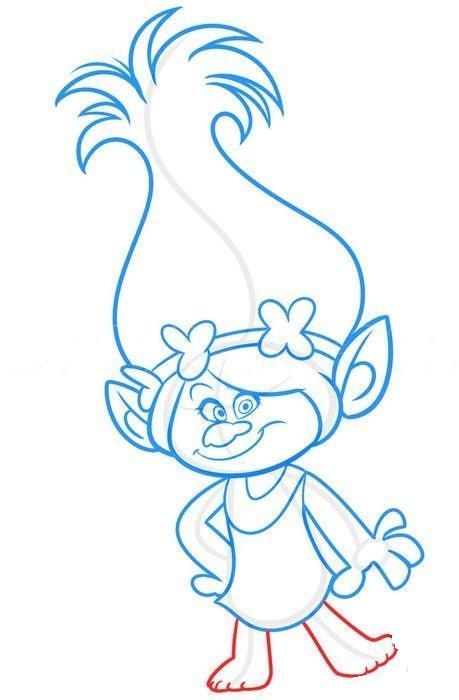 Как нарисовать Розочку из мультфильма