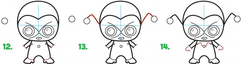 Как нарисовать милую харли квинн