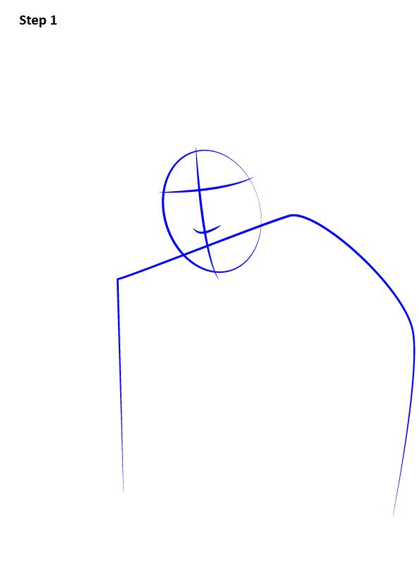 Рисуем Ньюта Саламандера 1