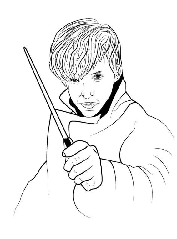 Рисуем Ньюта Саламандера 10