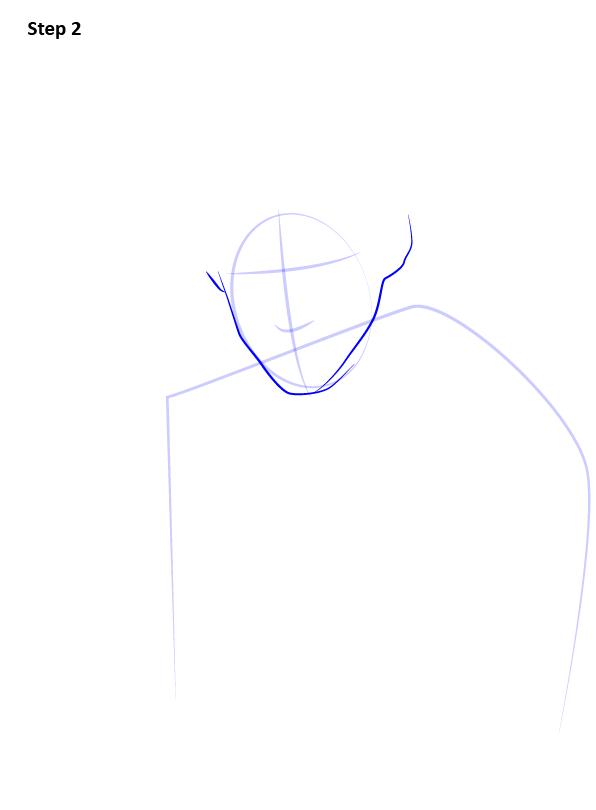 Рисуем Ньюта Саламандера 2