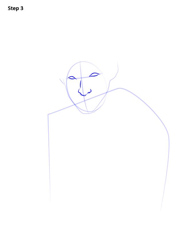 Рисуем Ньюта Саламандера 3