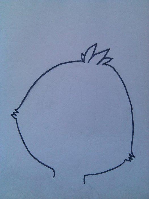 как нарисовать Чику из игры