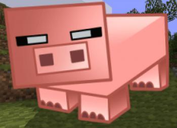 как нарисовать свинью из майнкрафта